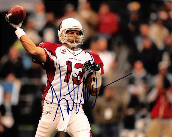 Autograph Warehouse 432835 8 X 10 in. Arizona Cardinals No.6 Kurt Warner Autographed Photo Frame