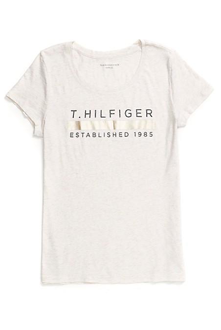 Tommy Hilfiger Metallic Stripe Tee - 143 - Xs