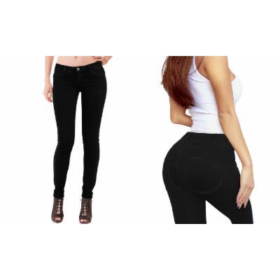 Women's HyBrid & Company Women's Extreme Butt Lift Stretch Denim Laventa Cola Jeans 7 Black Skinny