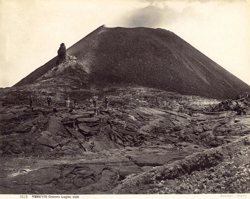 Pompeii Vesuvius Crater Nthe Active Crater of Mt Vesuvius Photographed in July of 1880 Rolled Canvas Art - (18 X 24)