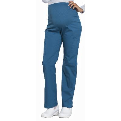 Custom Cherokee Workwear Womens Maternity Pant Blue