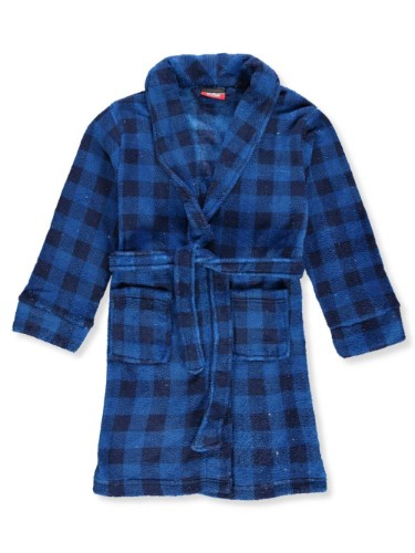 Sweet N Sassy Boys' Plush Robe - Blue, 10-12