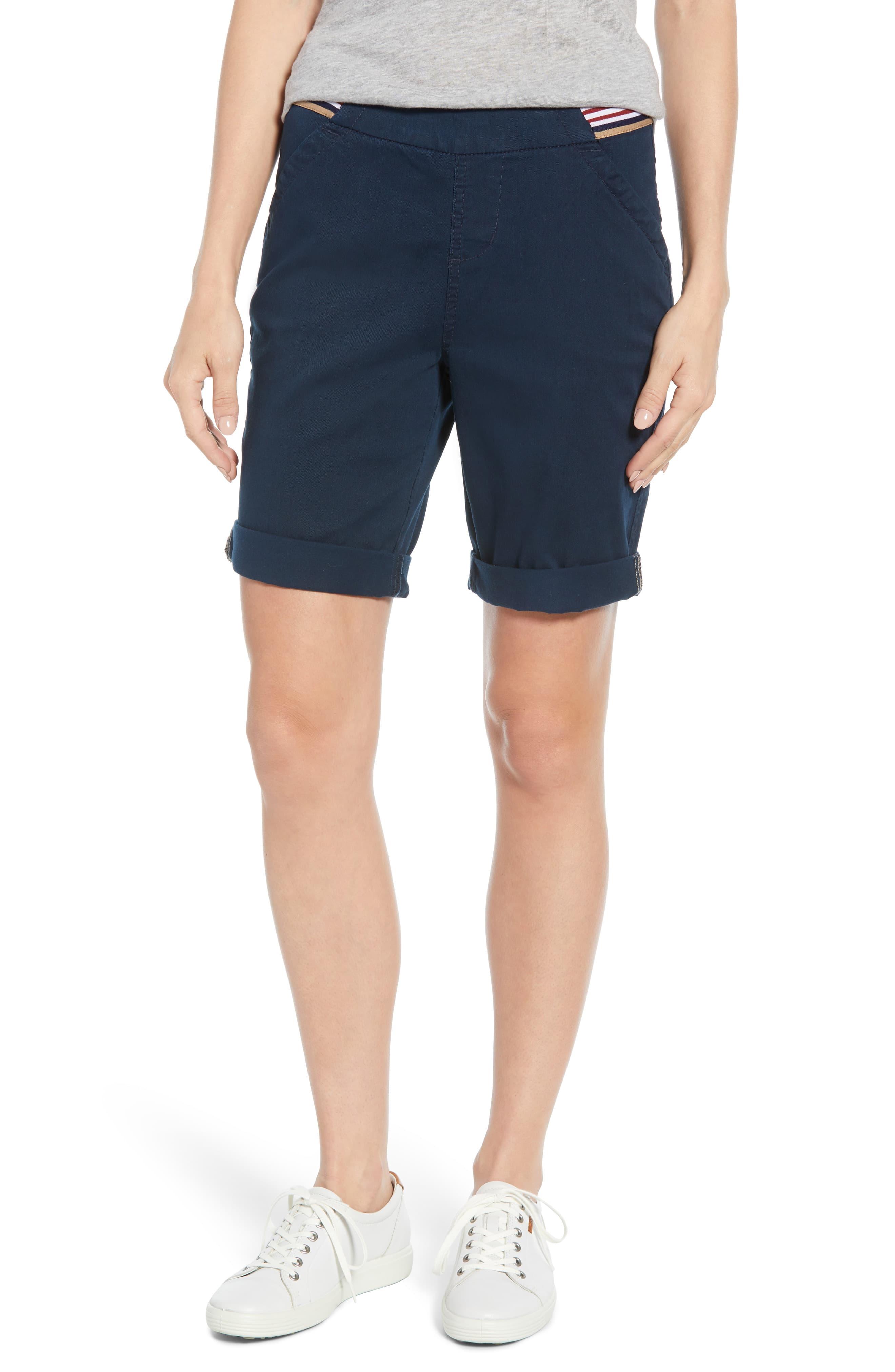 Petite Women's Jag Jeans Gracie Bermuda Shorts, Size 16P - Blue