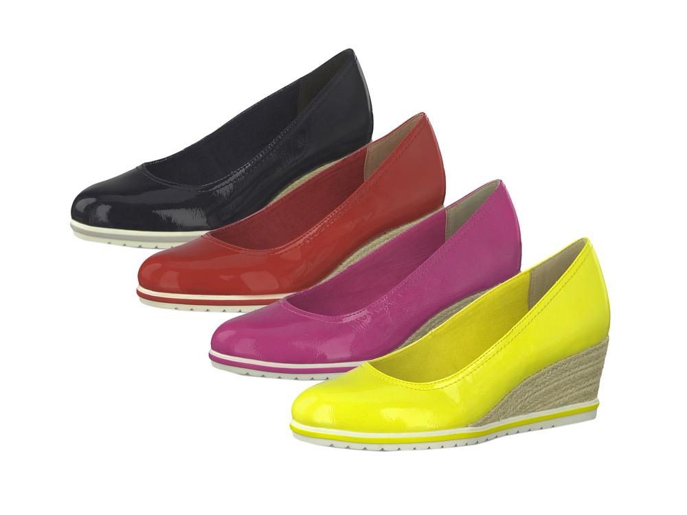 Tamaris 1-22441-22 Damen Schuhe Keil Pumps Lackoptik