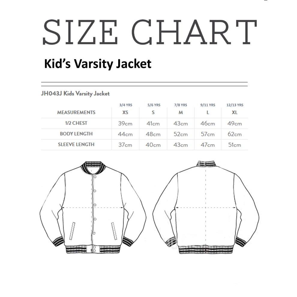 (Medium (7-8 Yrs)) Super Sailor Venus AKA Minako Aino Kid's Varsity Jacket thumbnail 3