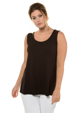 Plus Size Essential Rayon Round Neck Stretch Tank