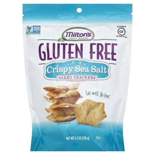 Milton's Gluten Free Baked Crackers Crispy Sea Salt -- 4.5 Oz