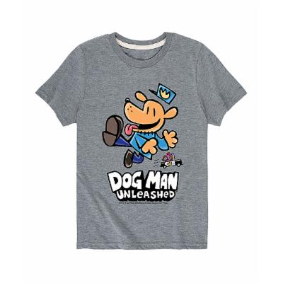 Instant Message Tee Shirts ATHLETIC - Athletic Heather 'Dog Man Unleashed' Tee - Toddler & Kids