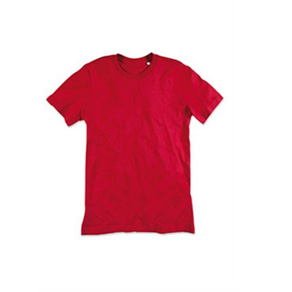 (XL, Pepper Red) Stedman Mens James Organic Tee