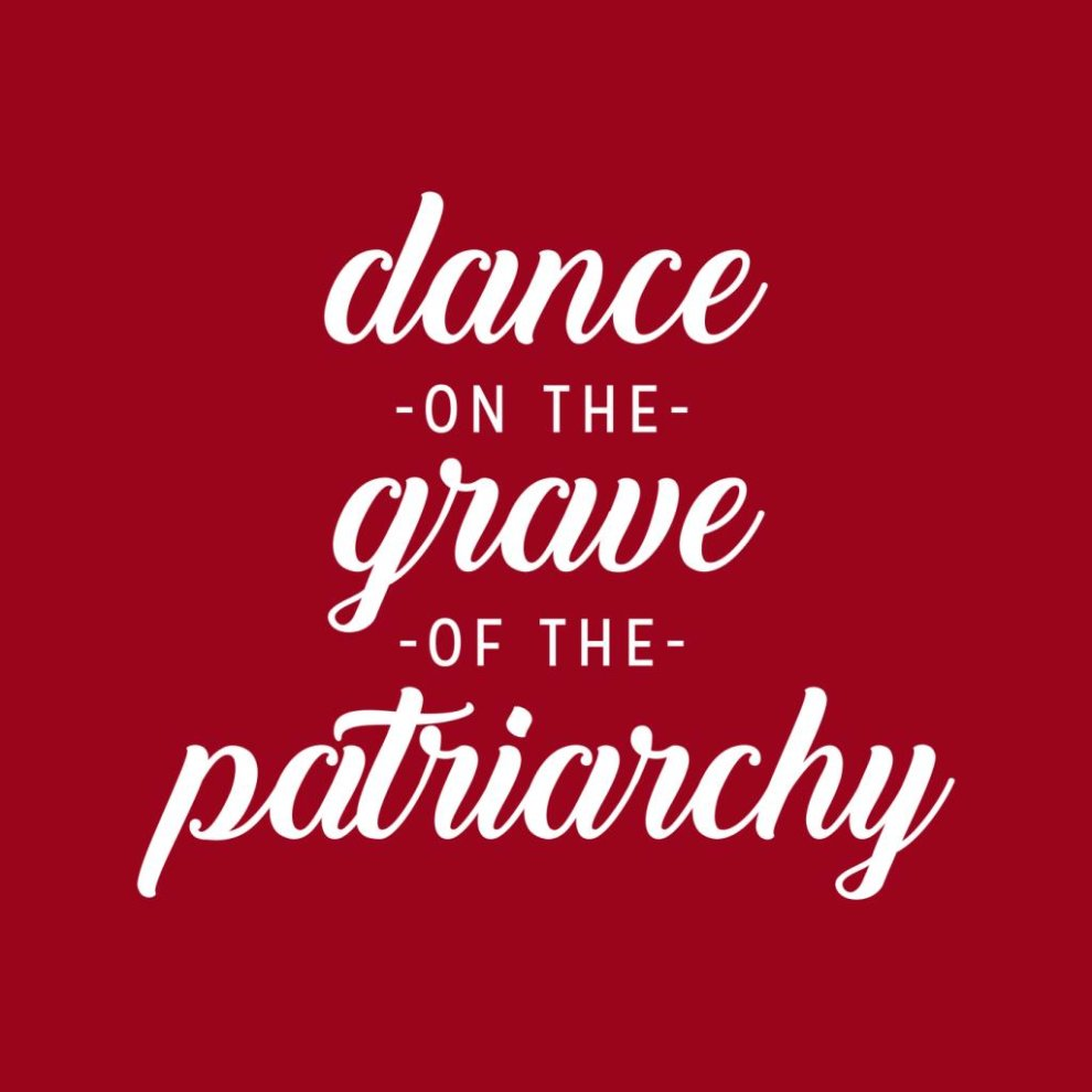 (XX-Large, Cherry Red) Anti Men Dance of the Grave of the Patriarchy Men's Hooded Sweatshirt thumbnail 2