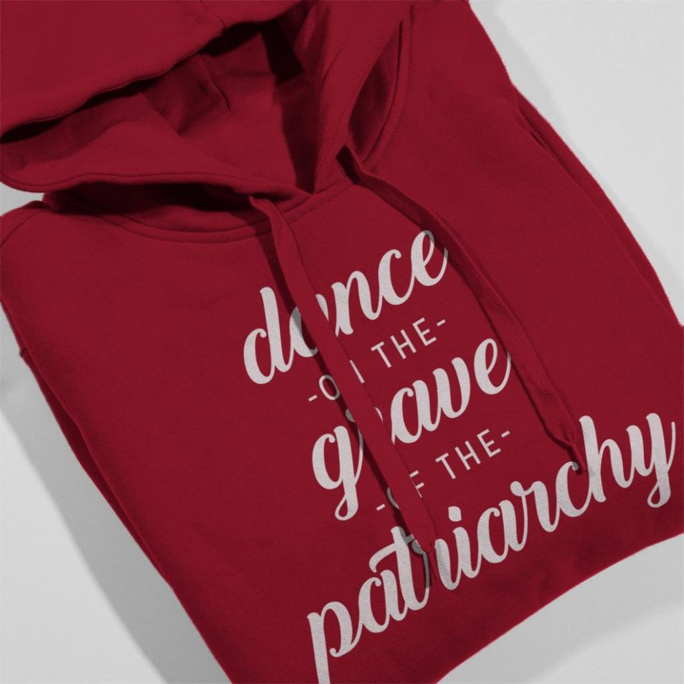 (XX-Large, Cherry Red) Anti Men Dance of the Grave of the Patriarchy Men's Hooded Sweatshirt thumbnail 4