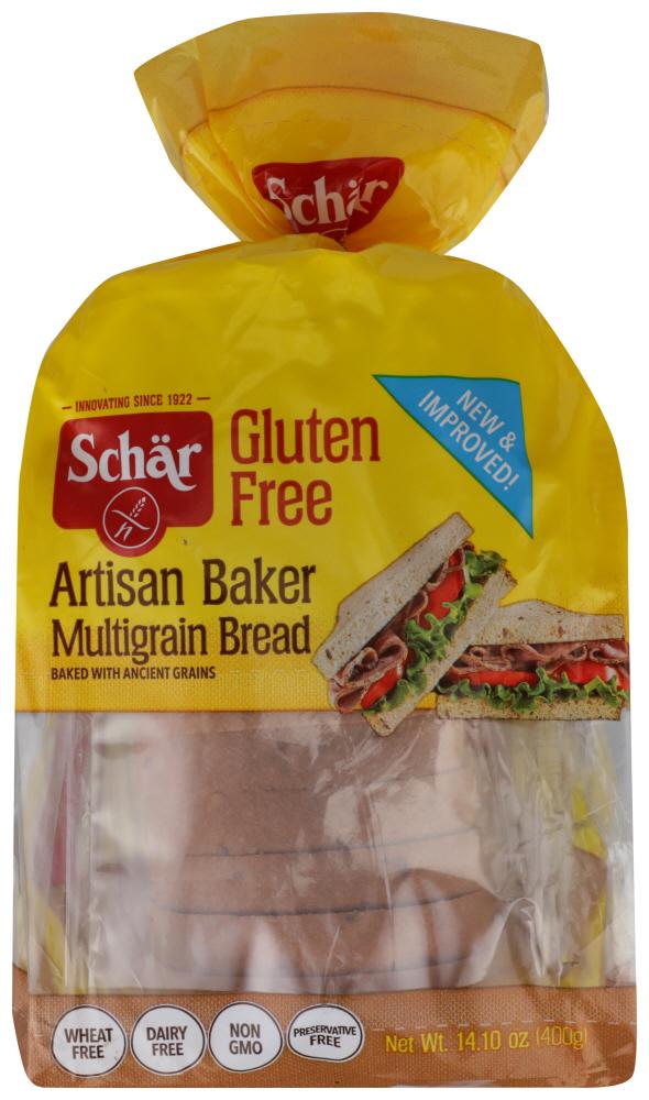 Schar Artisan Baker Bread - Multigrain , 14.1 OZ
