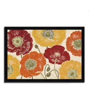 Tangletown Fine Art a Poppy's Touch I Spice by Daphne Brissonnet Framed Painting Print, 33