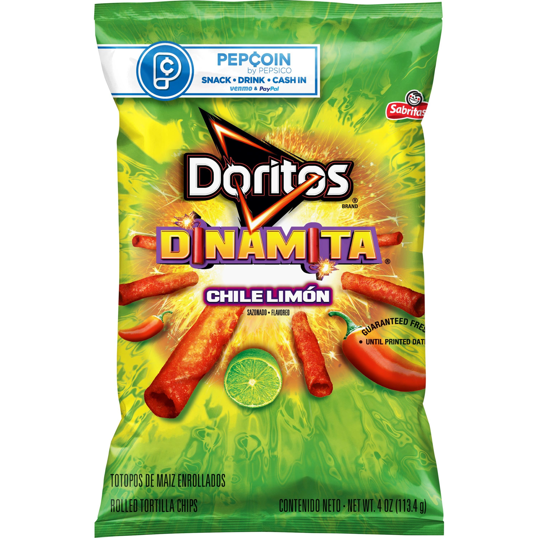 Doritos Dinamita Rolled Tortilla Chips, Chili Limon Flavored, 4.0 Oz
