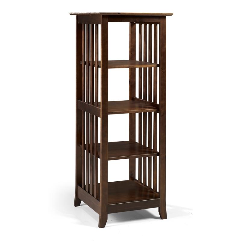 Linon Eli Wood Single Bookcase in Brown