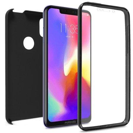 CoverON Motorola One (P30 Play) Case, SlimGuard Series Slim Fit Premium Full Body Phone Cover - Black