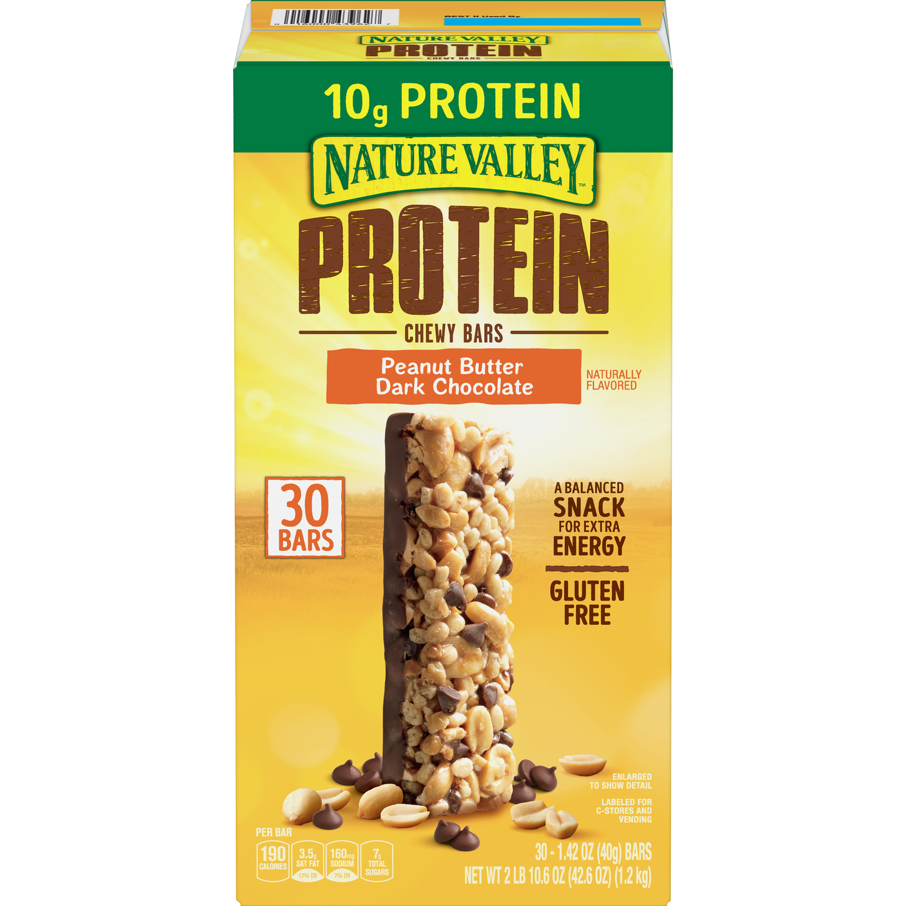 Nature Valley Protein Chewy Peanut Butter Dark Chocolate Bars 30CT