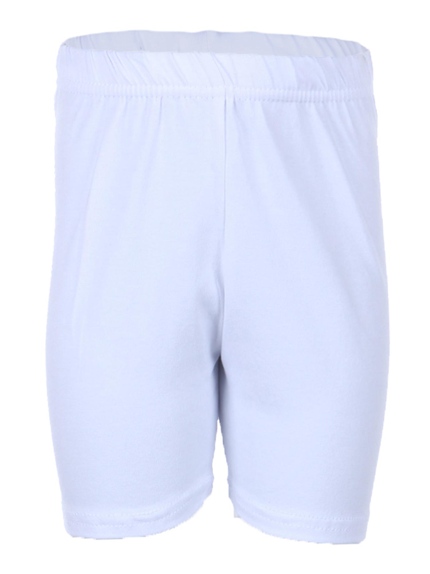 Ola Mari Unisex Kids Biker Shorts , 4, White