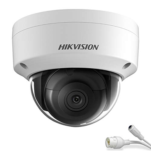 Hikvision 8MP H265+ 4K HD DS-2CD2183G0-I PoE IP Network Dome Security Camera with EXIR 98ft Night Vision, Smart H.265+ WDR, SD Card Slot, ONVIF, IP67