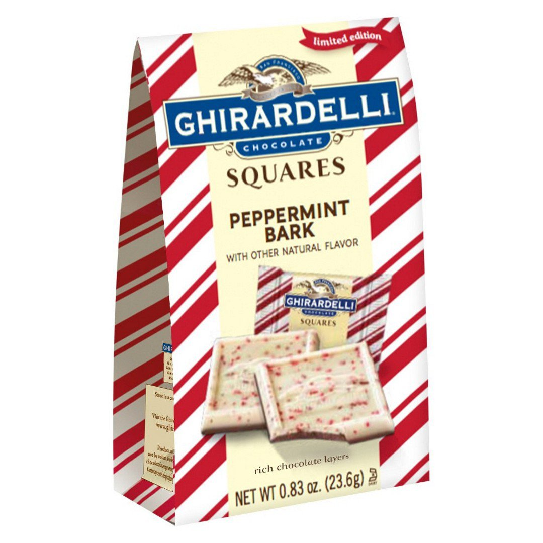 Ghirardelli Limited Edition Peppermint Bark Squares, 0.83 Oz
