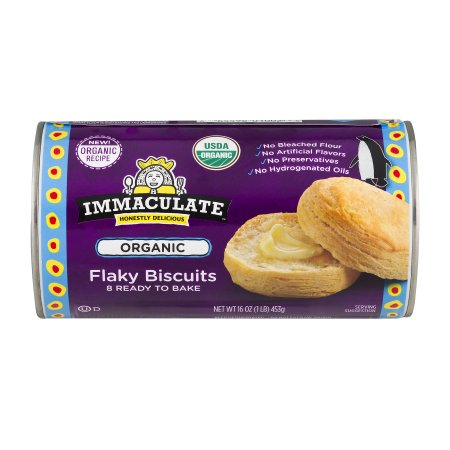 Immaculate Baking Organic Flaky Biscuits 8 Count