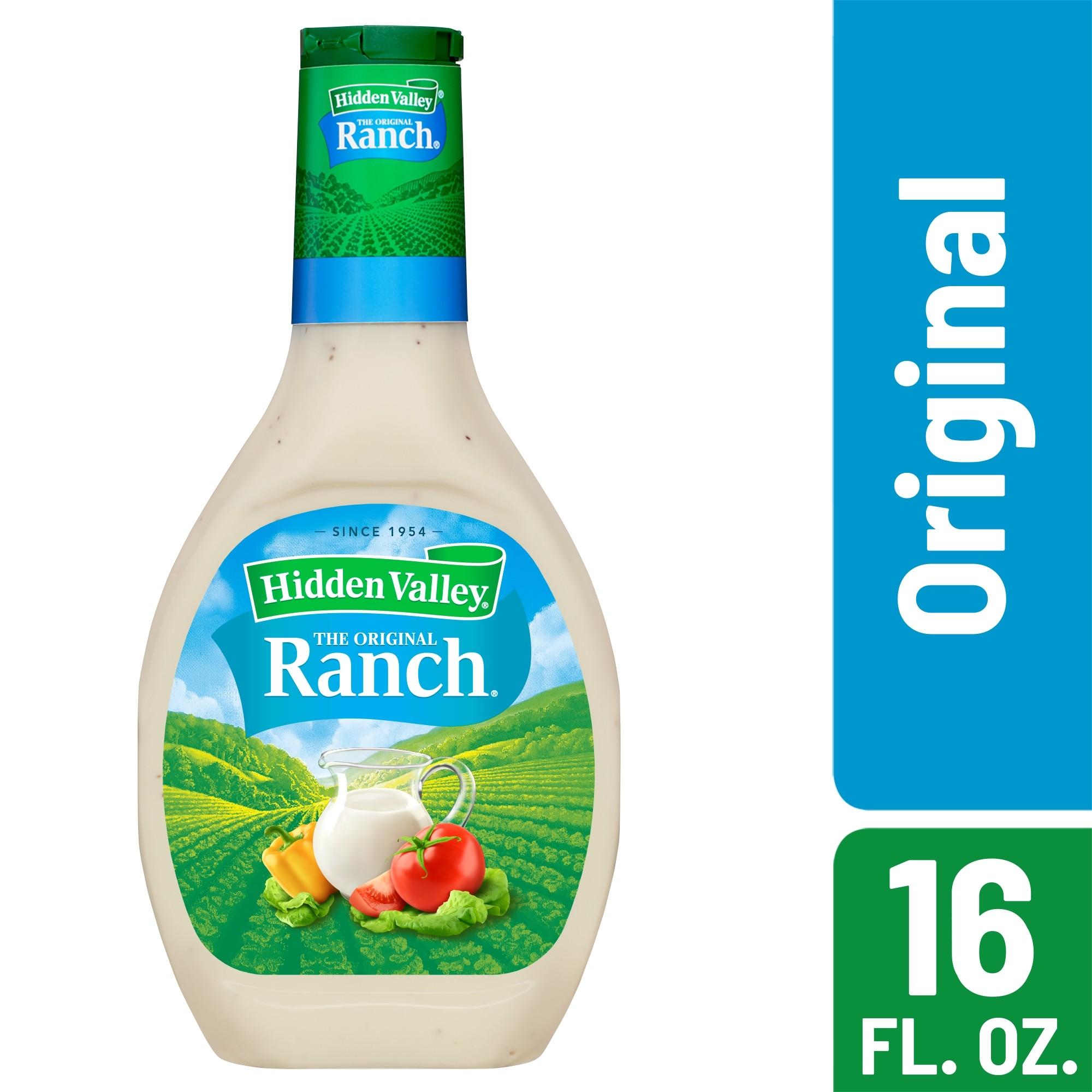 Hidden Valley Original Ranch Salad Dressing & Topping, Gluten Free - 16 Ounce Bottle
