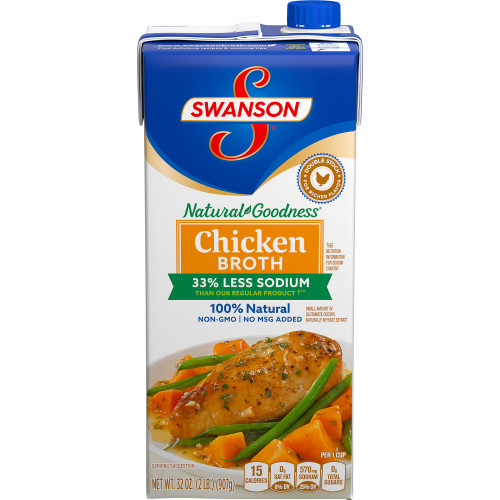 Swanson Broth Chicken Natural Goodness Fat Free Low Sodium 32oz. CTN