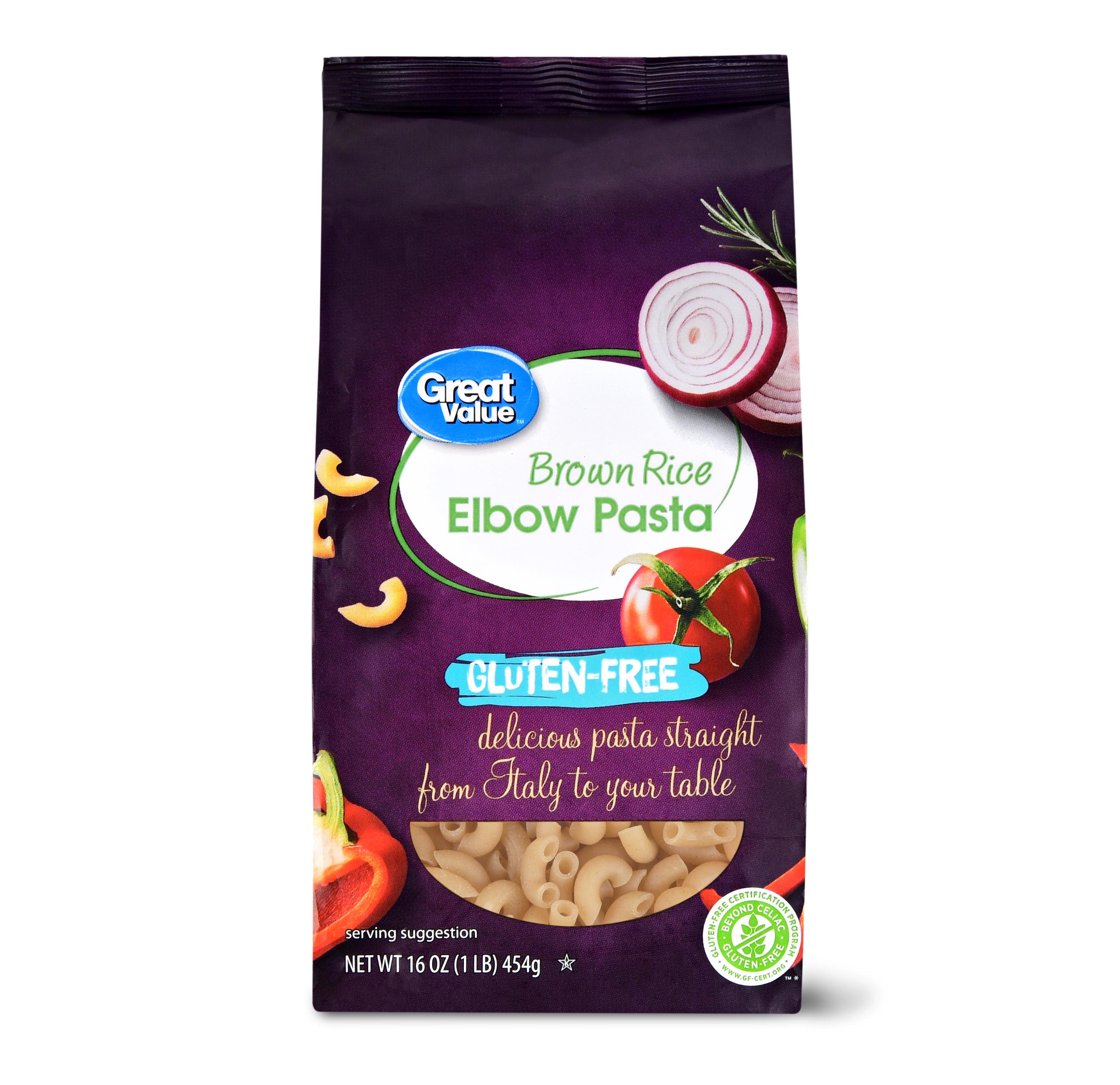 Great Value Gluten-Free Brown Rice Elbow Pasta, 16 Oz