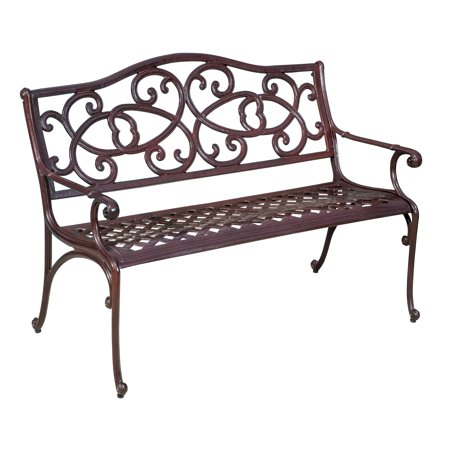 Noble House Copper Cast Outdoor Bench