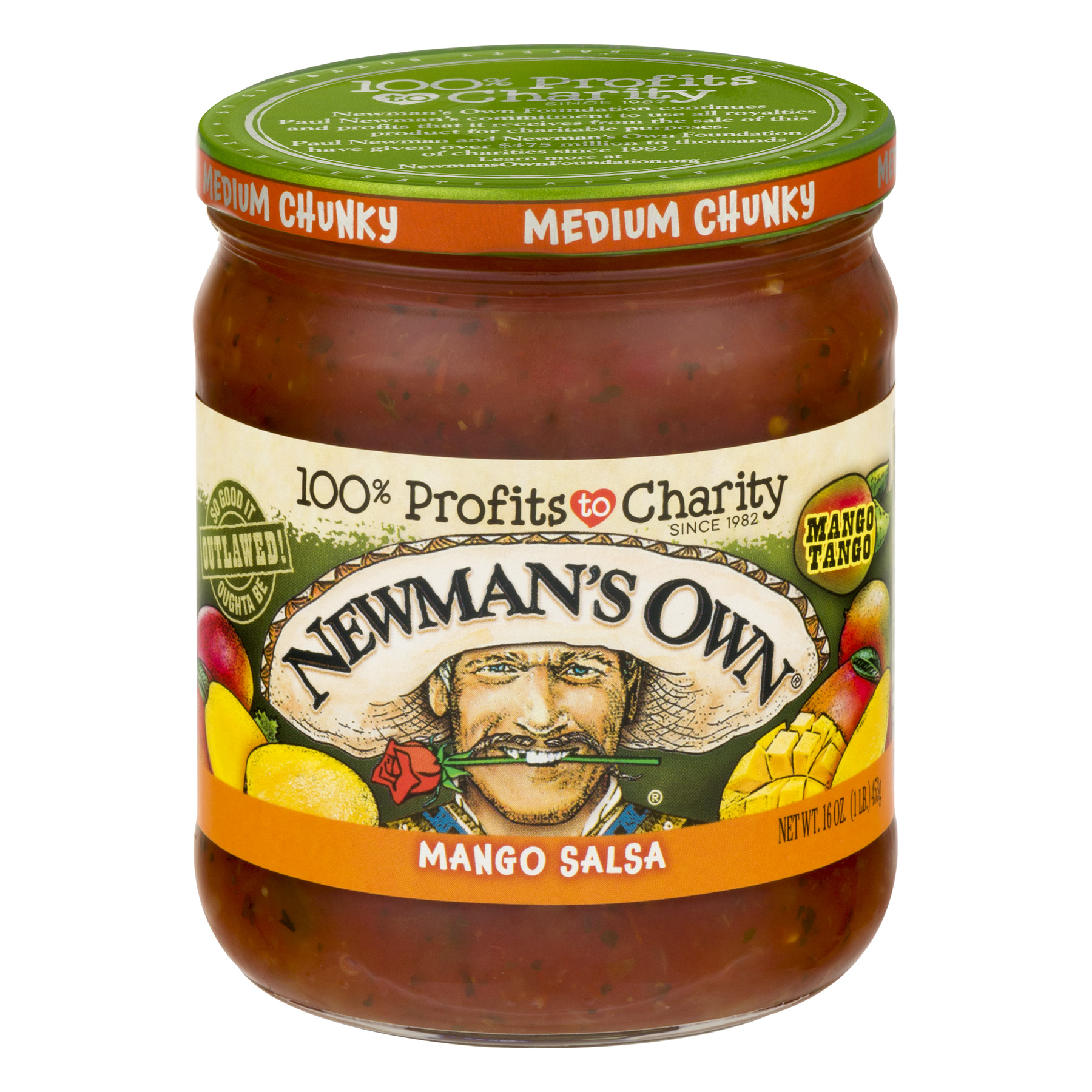 Newmans Own Salsa Medium Chunky Mango Jar - 16 Oz