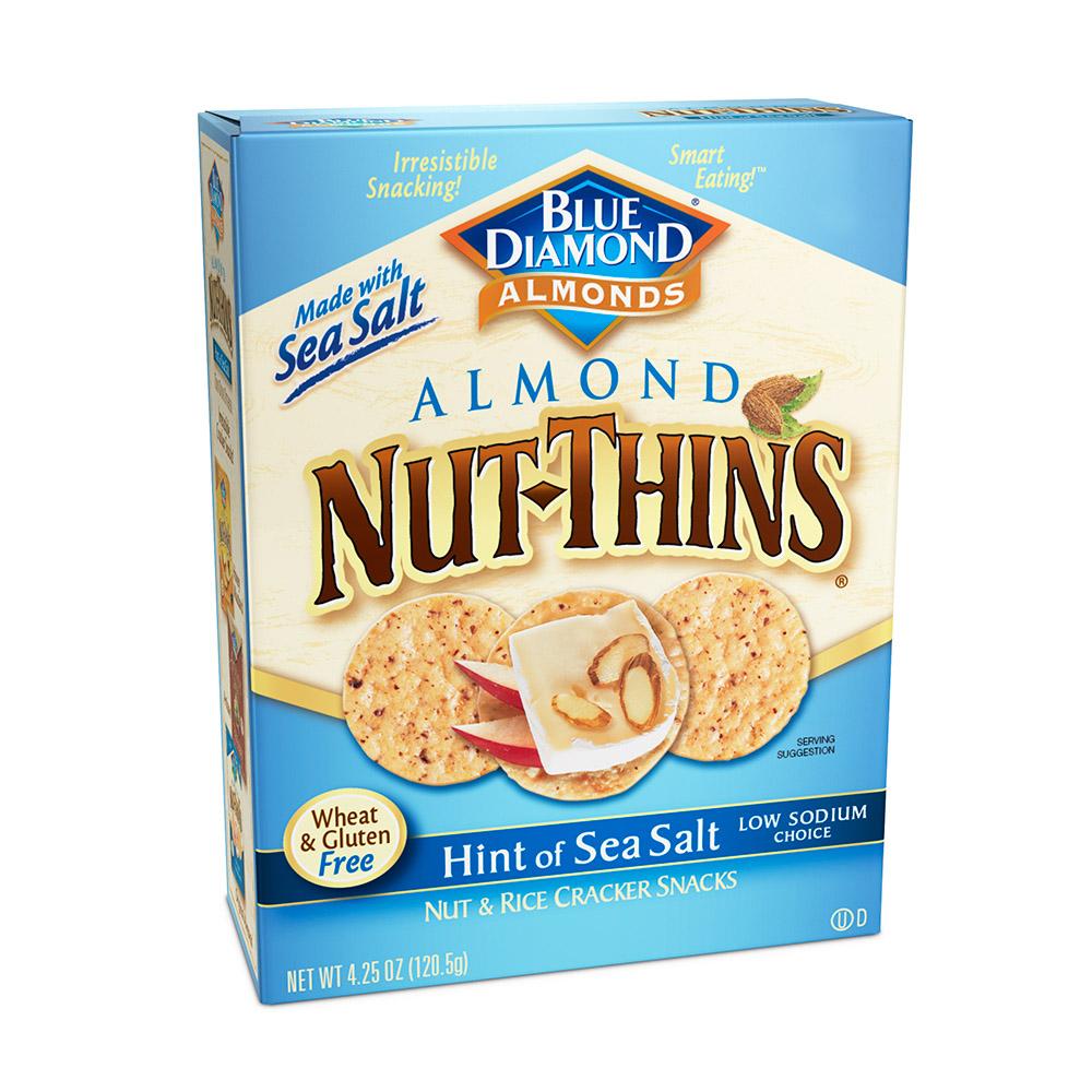Blue Diamond Almond Nut-Thins - Hint Of Sea Salt