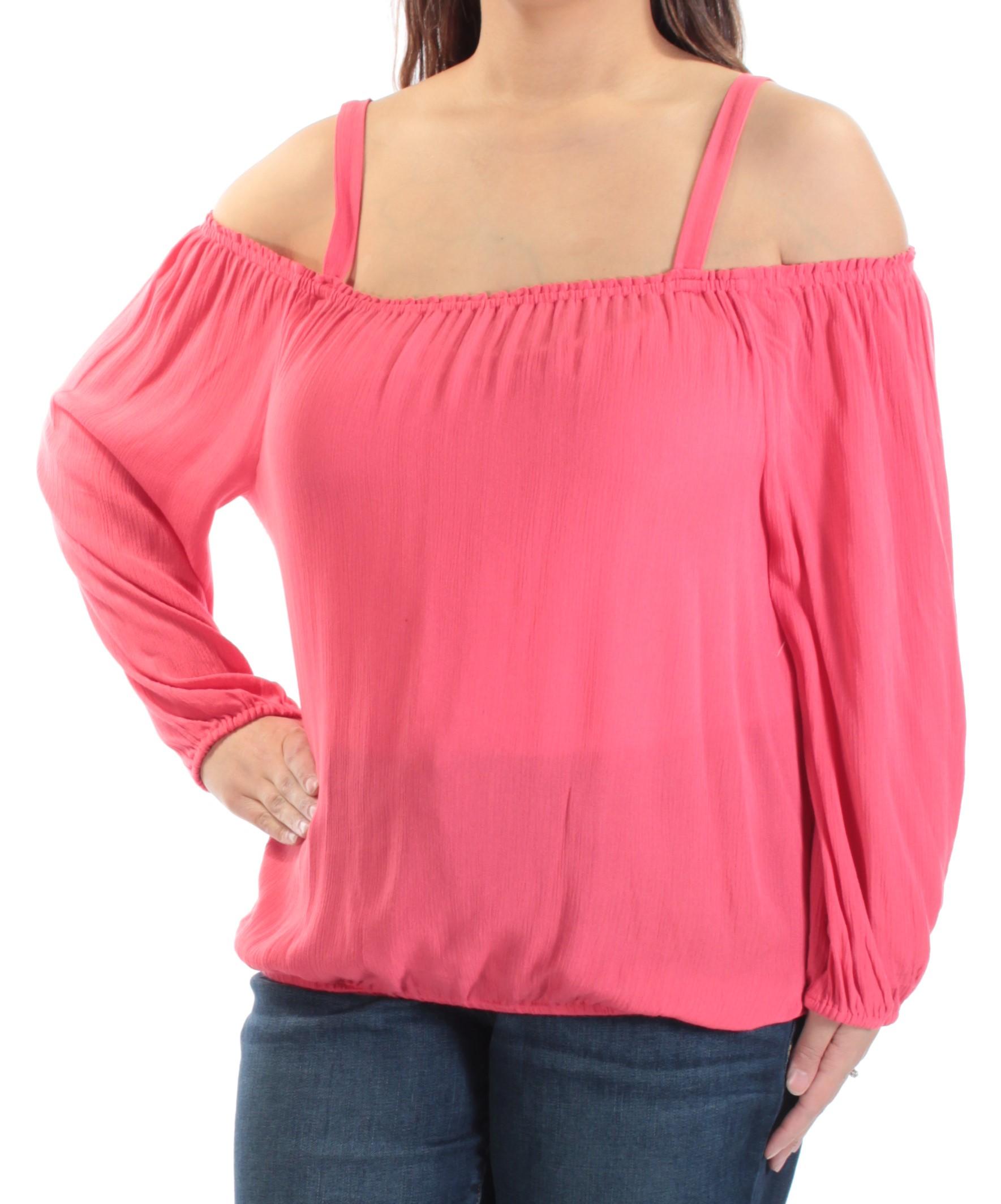Sanctuary Clothing Womens Cold Shoulder Knit Blouse - X-Large