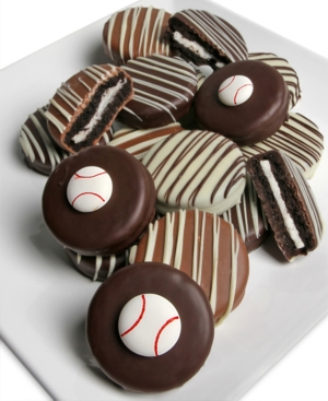 Chocolate Covered Company 10-Pc. Baseball Belgian Chocolate Covered Oreo Cookies