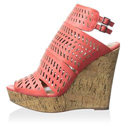 Charles By Charles David Women's Apt Wedge Sandal, Coral, Size 6.0