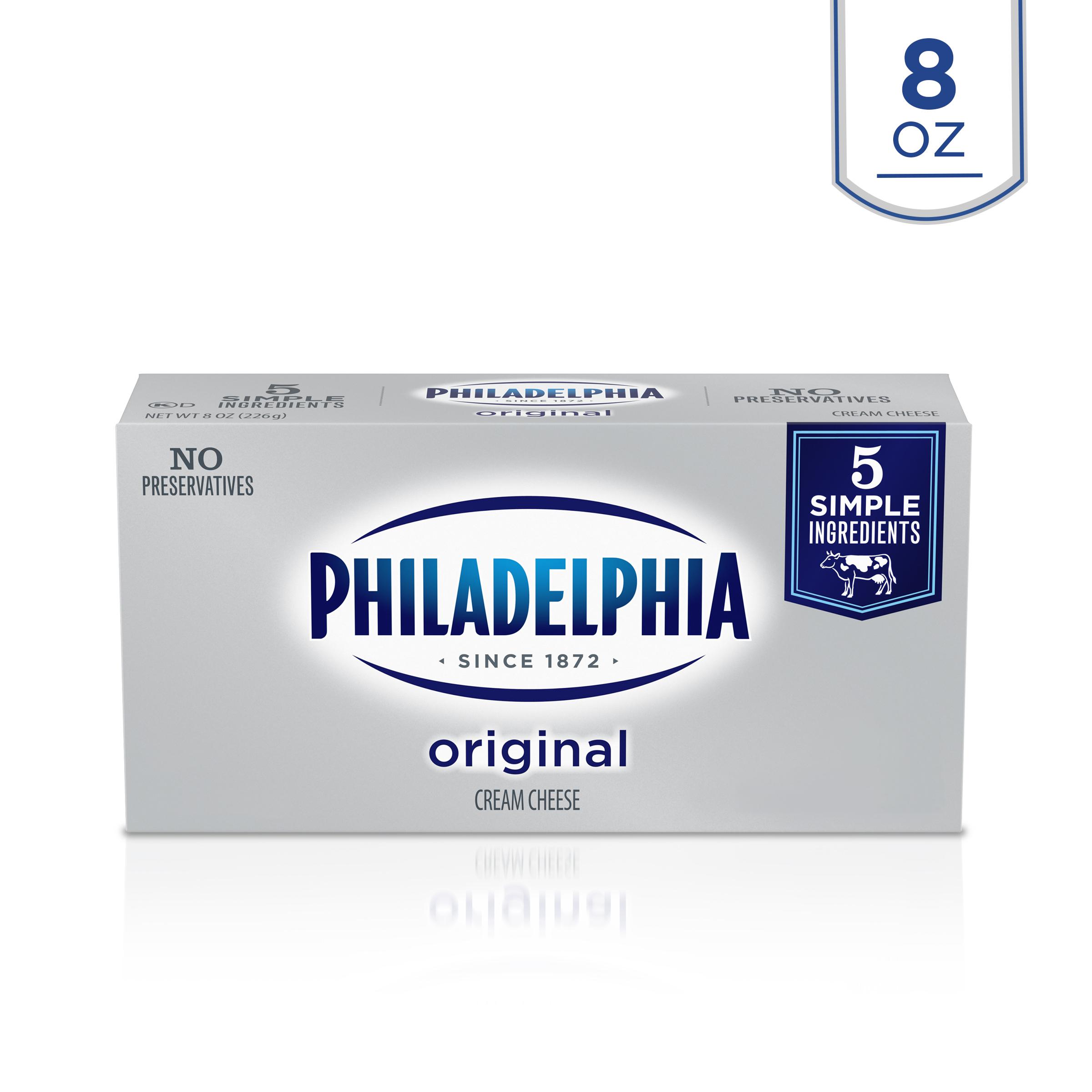 Kraft Philadelphia Original Cream Cheese - Rigid Box, 8 Ounce -- 36 Per Case.