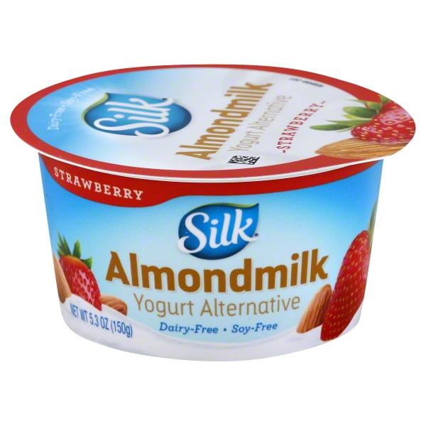 Silk Almond Dairy-Free Strawberry Yogurt Alternative