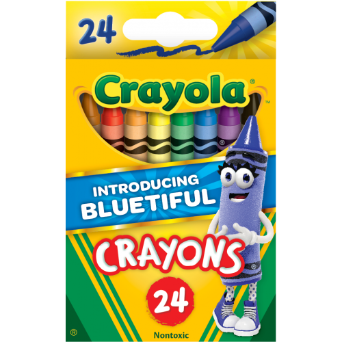 Crayon,Classic Color,Assorted,PK24