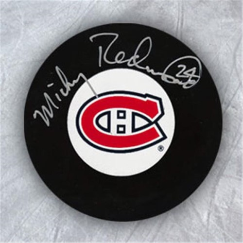 AJ Sports World REDM105050 MICKEY REDMOND Montreal Canadiens Autographed Hockey PUCK