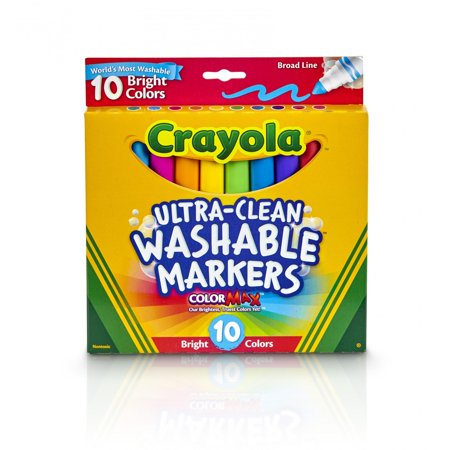 Crayola Ultra-Clean Wet Erase Markers, Broad Tip, Assorted Inks (58-7855) | Quill