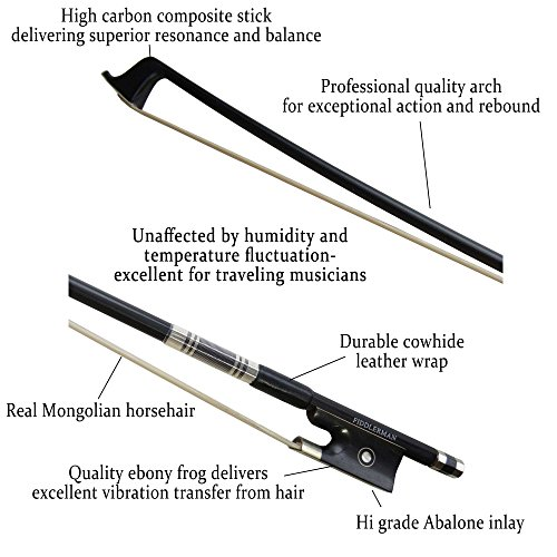 Fiddlerman Carbon Fiber Violin Bow 4/4