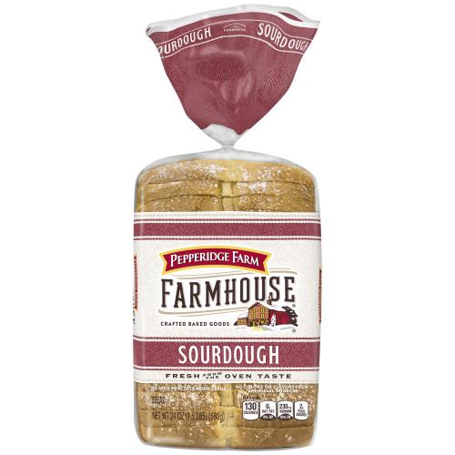 Pepperidge Farm Farmhouse Sourdough Bread, 24oz Bag