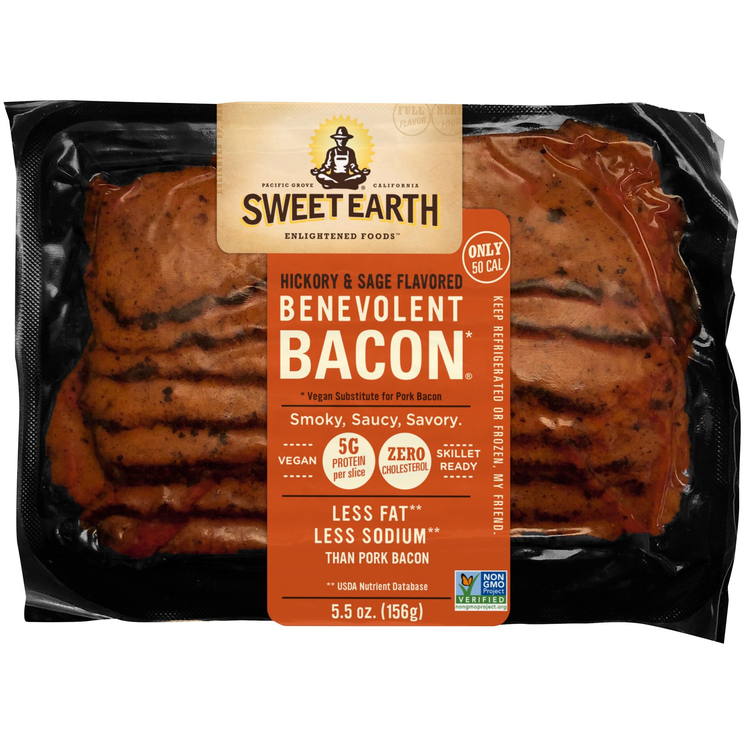 Sweet Earth Natural Foods Vegan Hickory & Sage Smoked Seitan Bacon