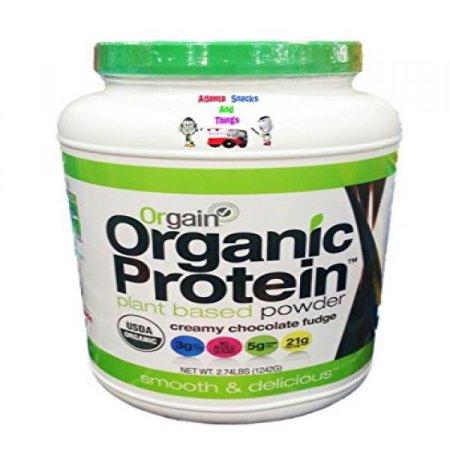 Orgain Organic Vegan Protein Plant-Based Protein Powder - Creamy Chocolate Fudge