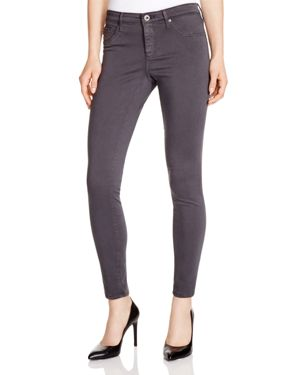 Ag Legging Ankle Jeans In Dark Charcoal - 100% Exclusive