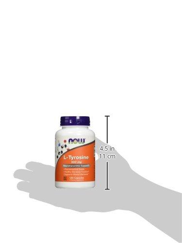 NOW L-Tyrosine 500 Mg - 120 Capsules thumbnail 2