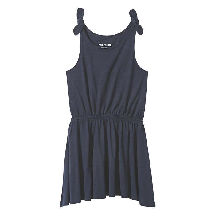 Joe Fresh Kid Girls' Tank Dress, Jf Midnight Blue (size S)