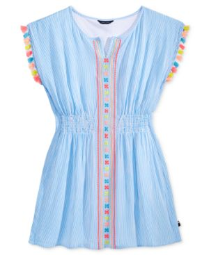 Tommy Hilfiger Kaftan Tassel Dress, Big Girls (7-16)