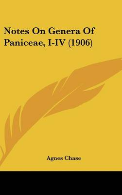 Notes On Genera Of Paniceae, I-iv (1906)