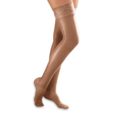 Footsmart Women's Light Support Thigh Highs--taupe,b