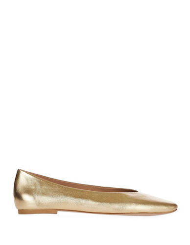 Topshop Karate Ballet Flats-gold-eu 40/us 9.5